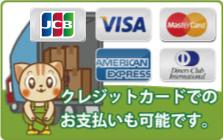 クレジットでのお支払いも可能です。